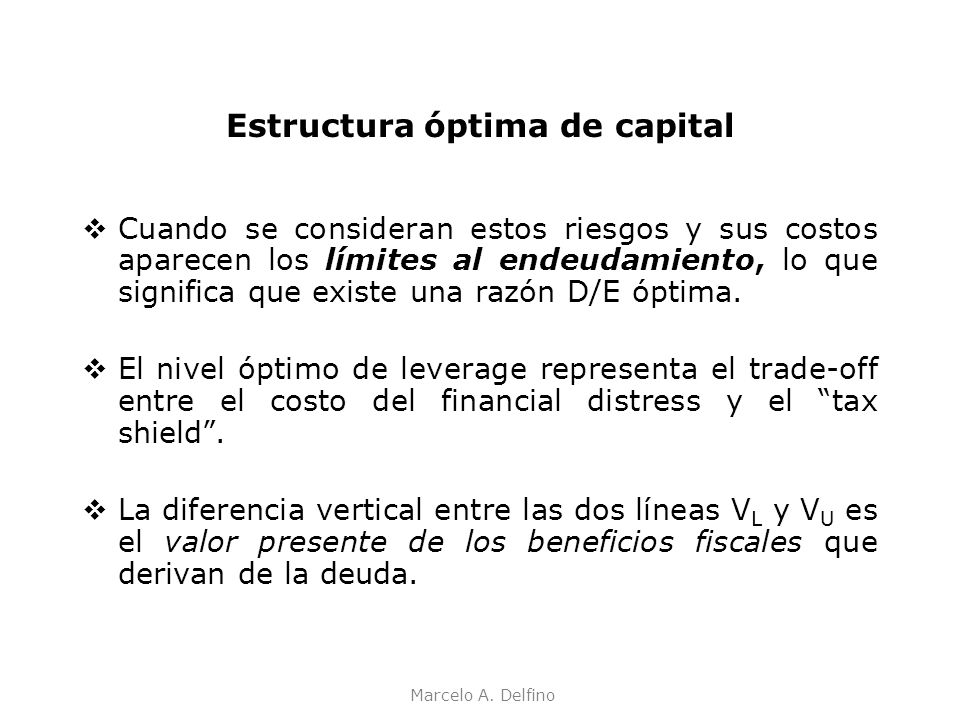 Estructura óptima de capital