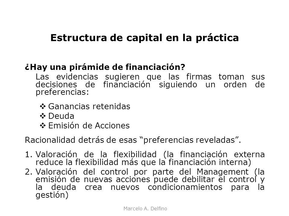 Estructura de capital en la práctica