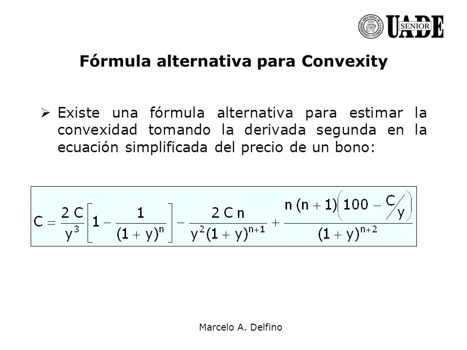 Fórmula alternativa para Convexity