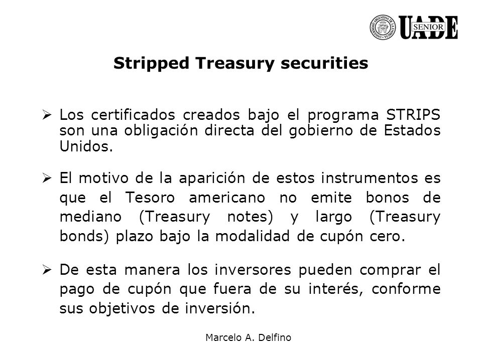 Stripped Treasury securities