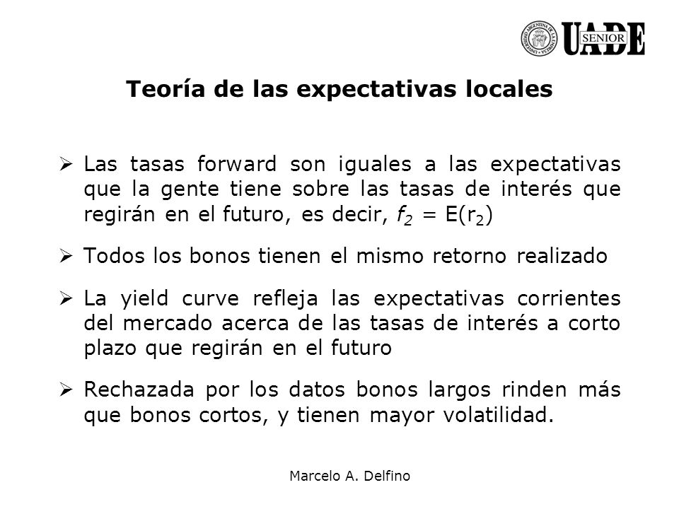 Teoría de las expectativas locales