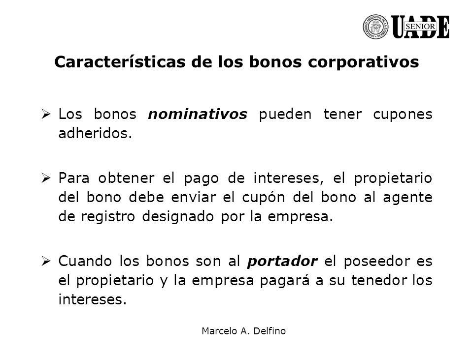 Características de los bonos corporativos