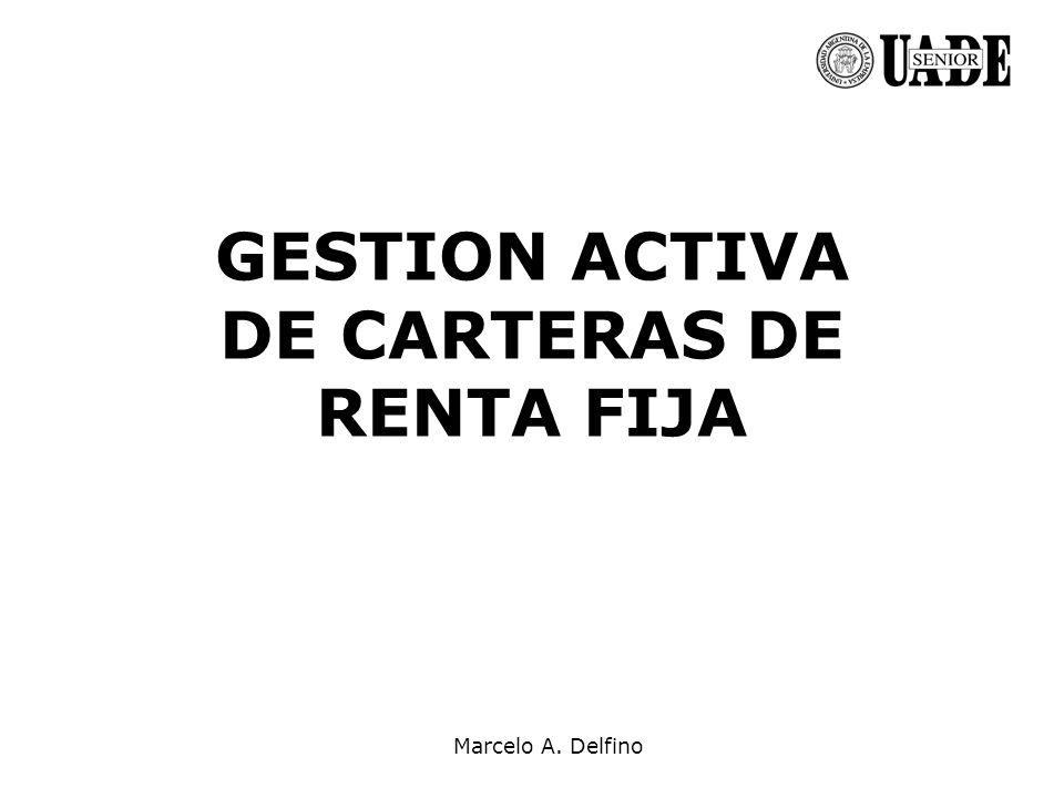 GESTION ACTIVA DE CARTERAS DE RENTA FIJA