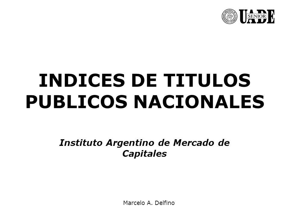 INDICES DE TITULOS PUBLICOS NACIONALES