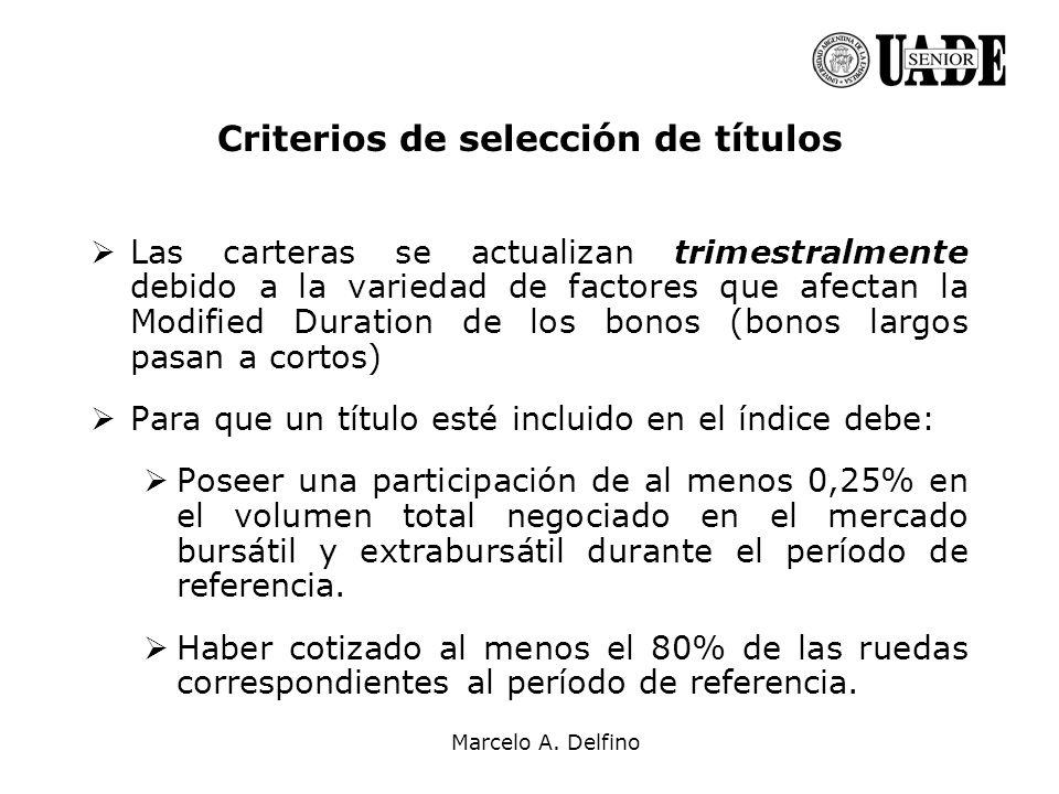 Criterios de selección de títulos