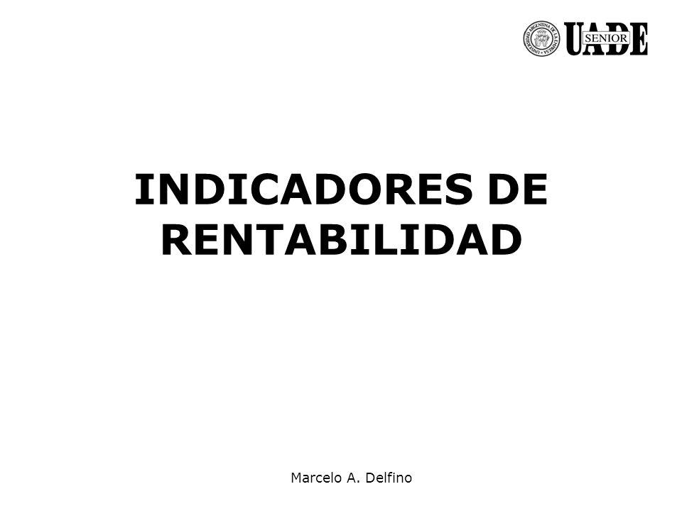 INDICADORES DE RENTABILIDAD