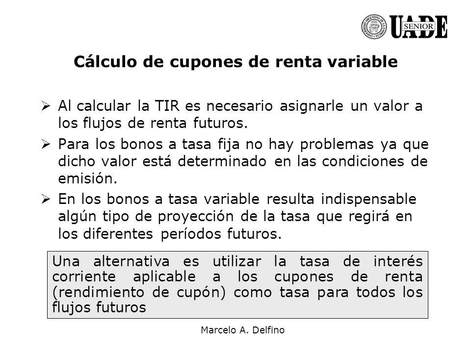 Cálculo de cupones de renta variable