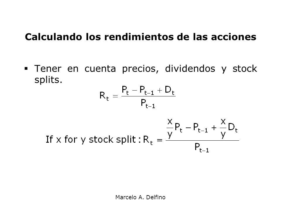 Calculando los rendimientos de las acciones