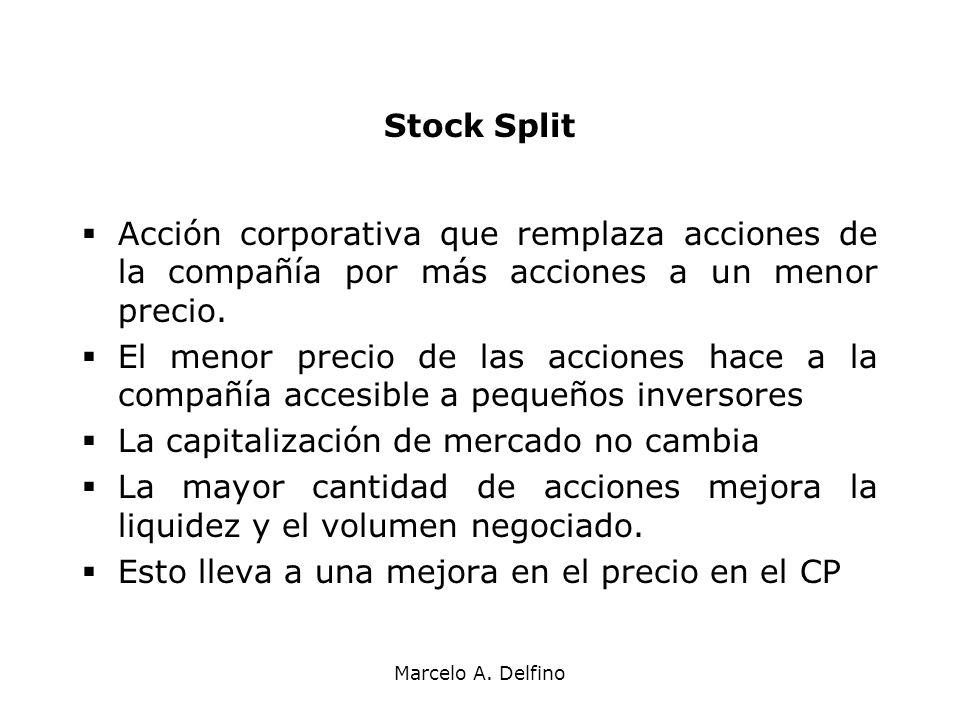 La capitalización de mercado no cambia