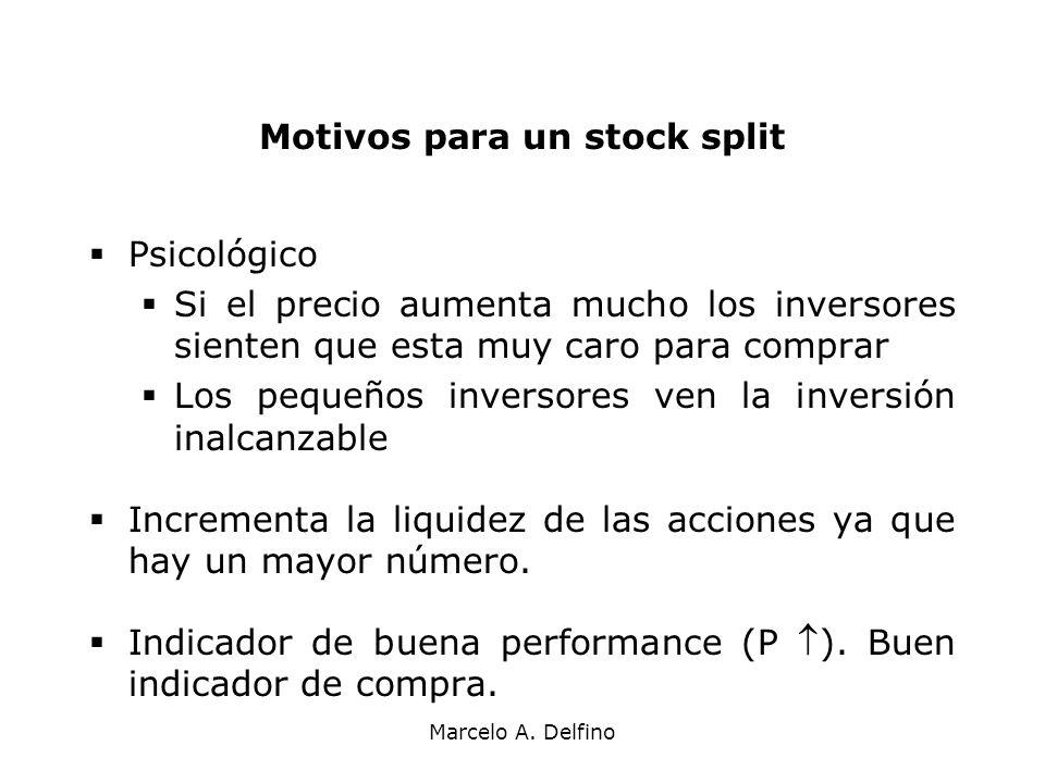Motivos para un stock split