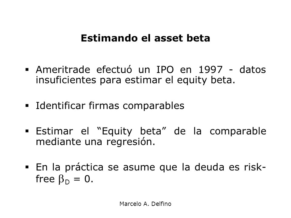 Estimando el asset beta