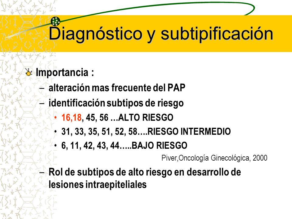 Diagnóstico y subtipificación