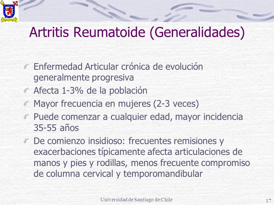 Artritis Reumatoide (Generalidades)