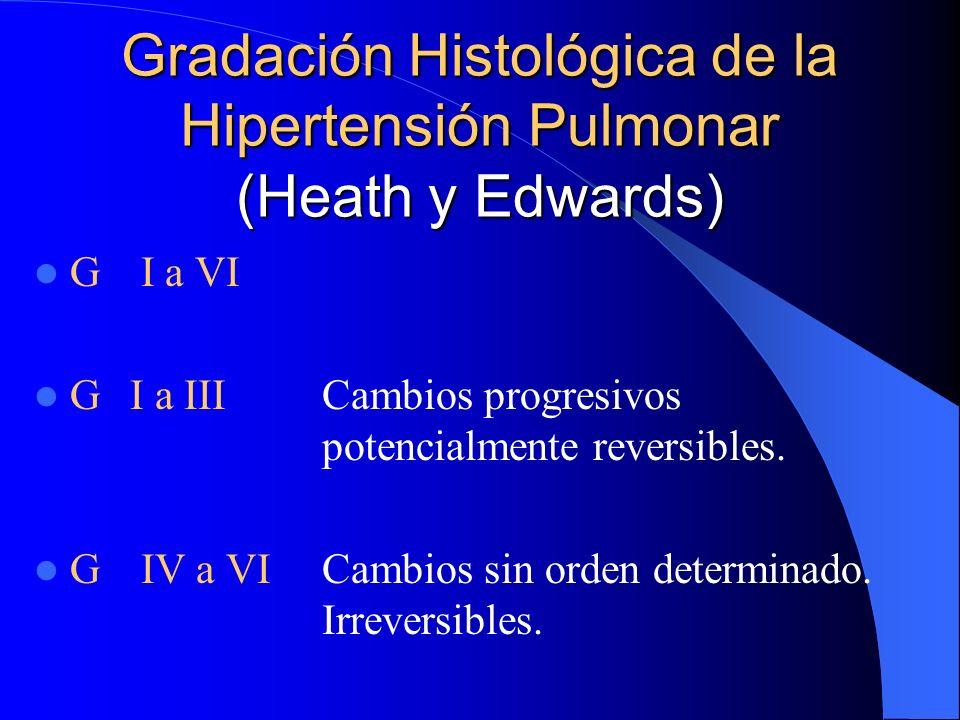 Gradación Histológica de la Hipertensión Pulmonar (Heath y Edwards)