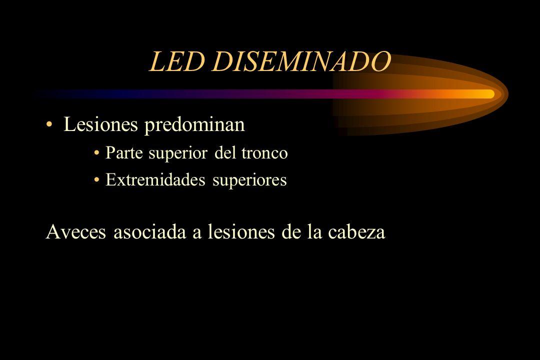 LED DISEMINADO Lesiones predominan