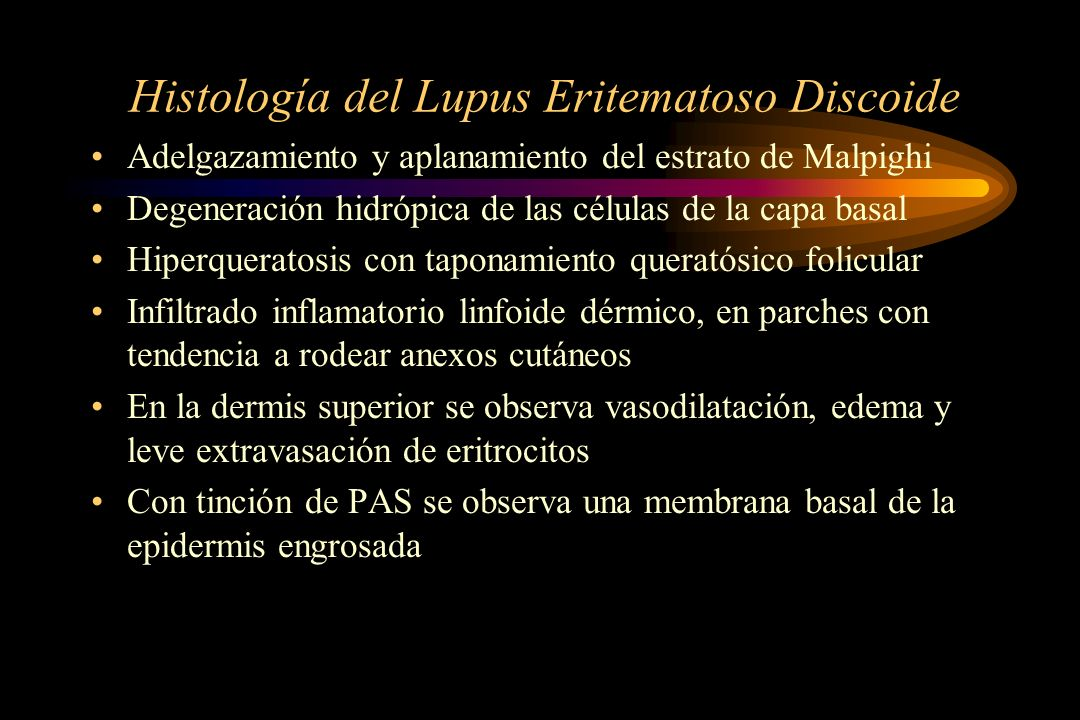 Histología del Lupus Eritematoso Discoide