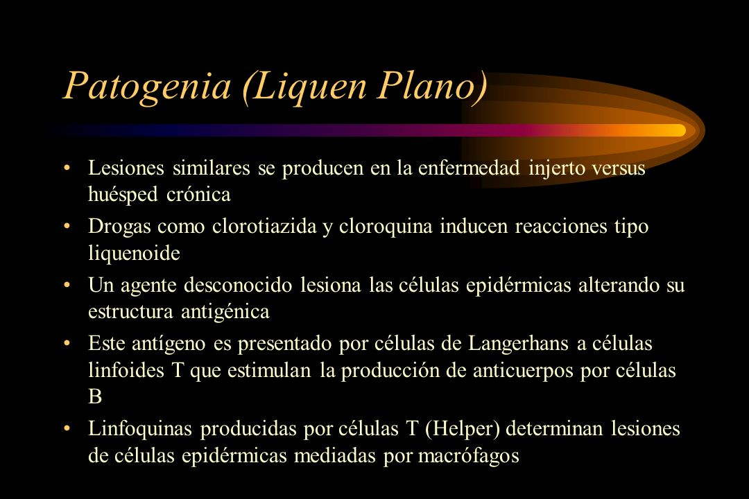 Patogenia (Liquen Plano)