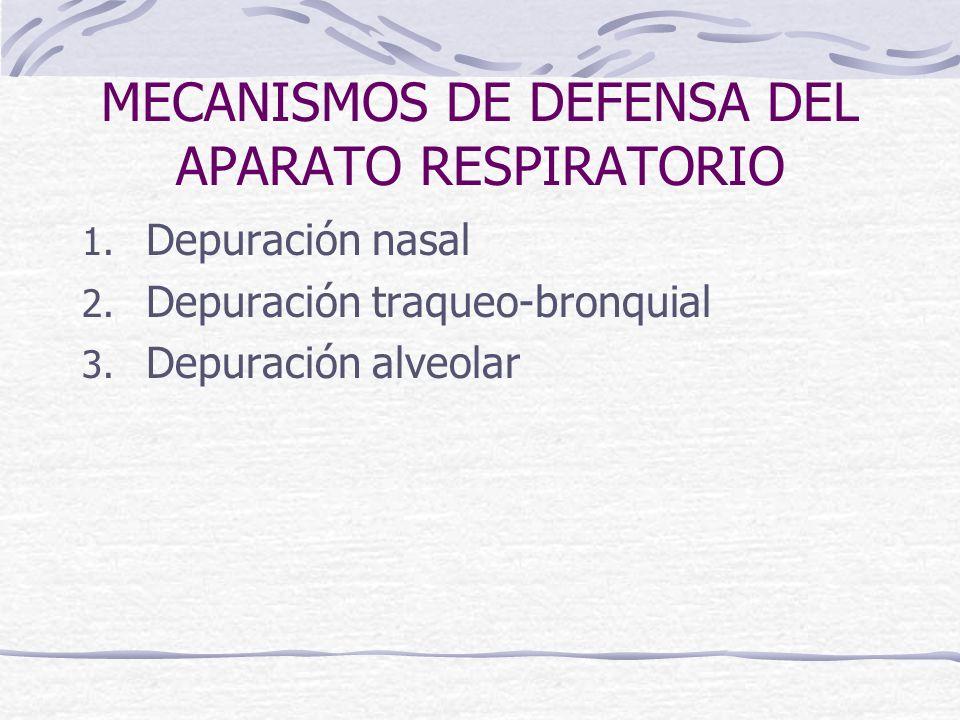 MECANISMOS DE DEFENSA DEL APARATO RESPIRATORIO