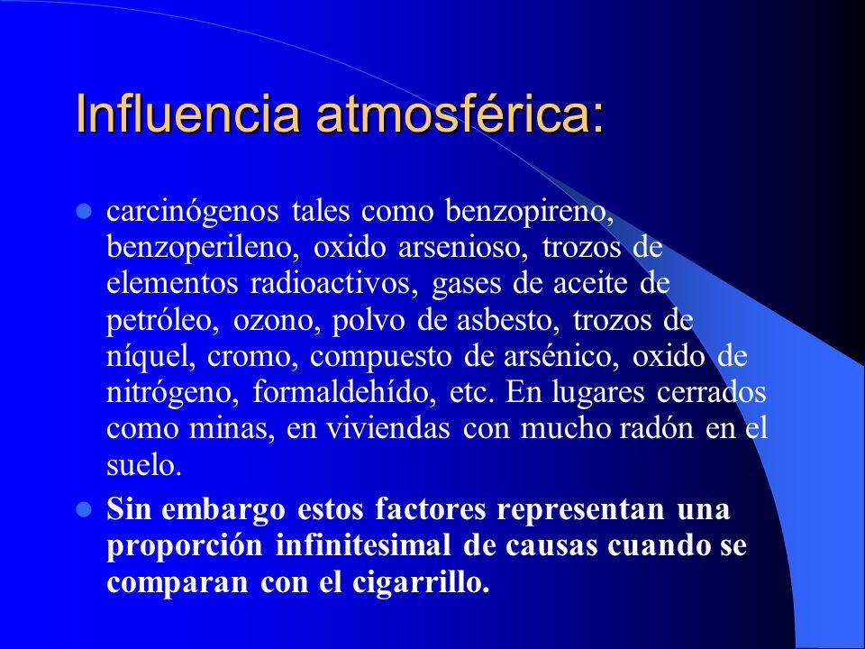 Influencia atmosférica: