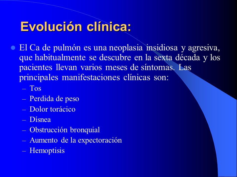 Evolución clínica: