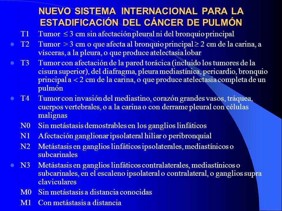 NUEVO SISTEMA INTERNACIONAL PARA LA ESTADIFICACIÓN DEL CÁNCER DE PULMÓN