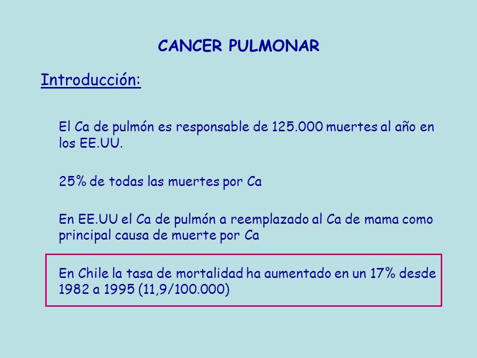 El Ca de pulmón es responsable de 125.000 muertes al año en los EE.UU.