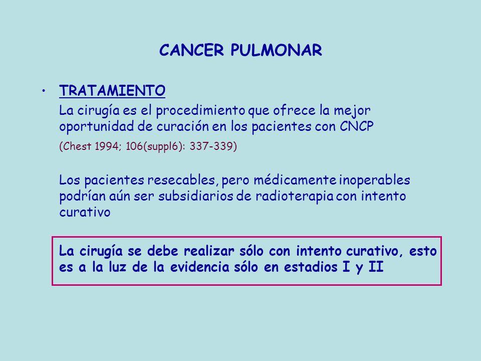 CANCER PULMONAR TRATAMIENTO