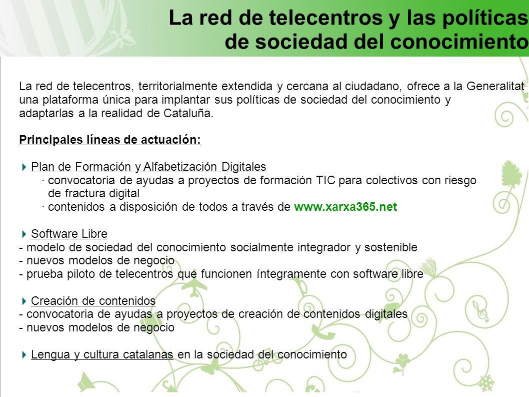 La red de telecentros y las políticas de sociedad del conocimiento