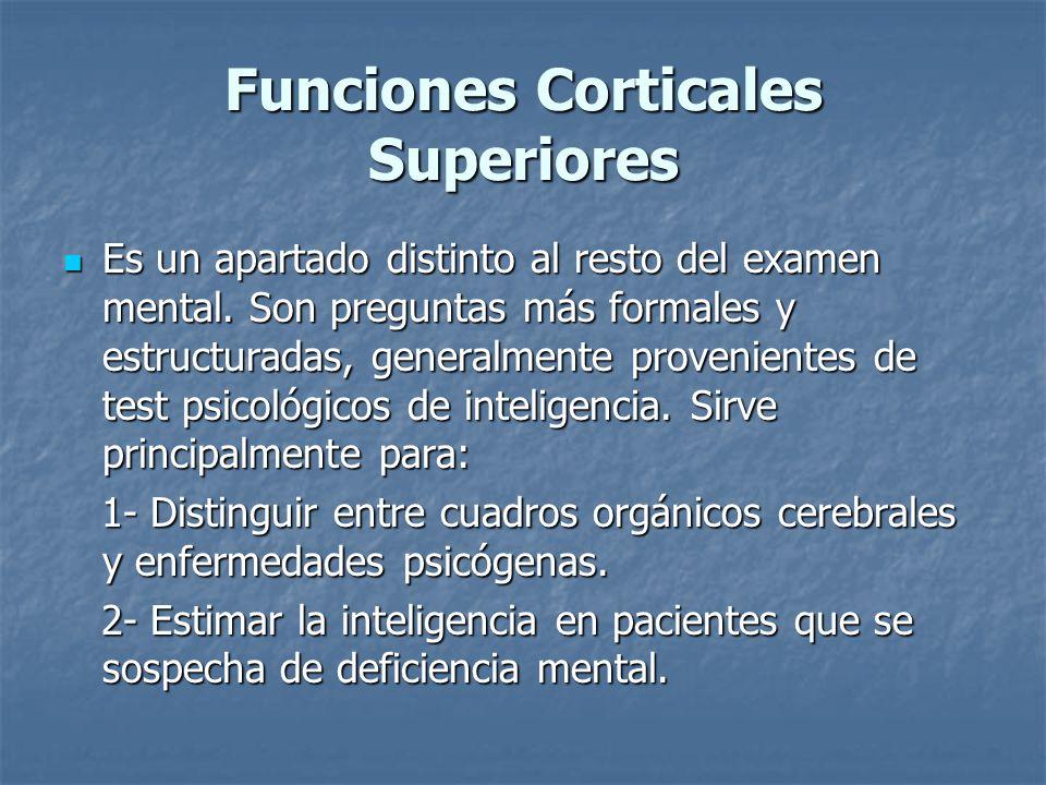 Funciones Corticales Superiores