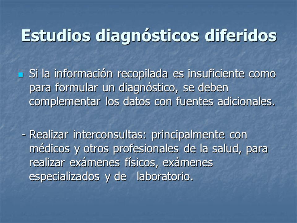 Estudios diagnósticos diferidos