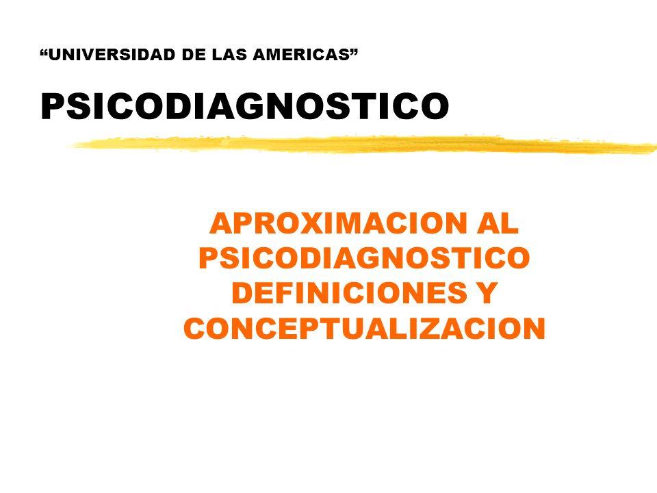 UNIVERSIDAD DE LAS AMERICAS PSICODIAGNOSTICO