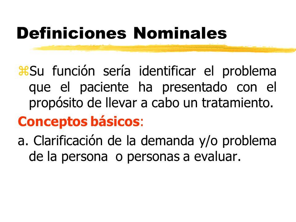 Definiciones Nominales