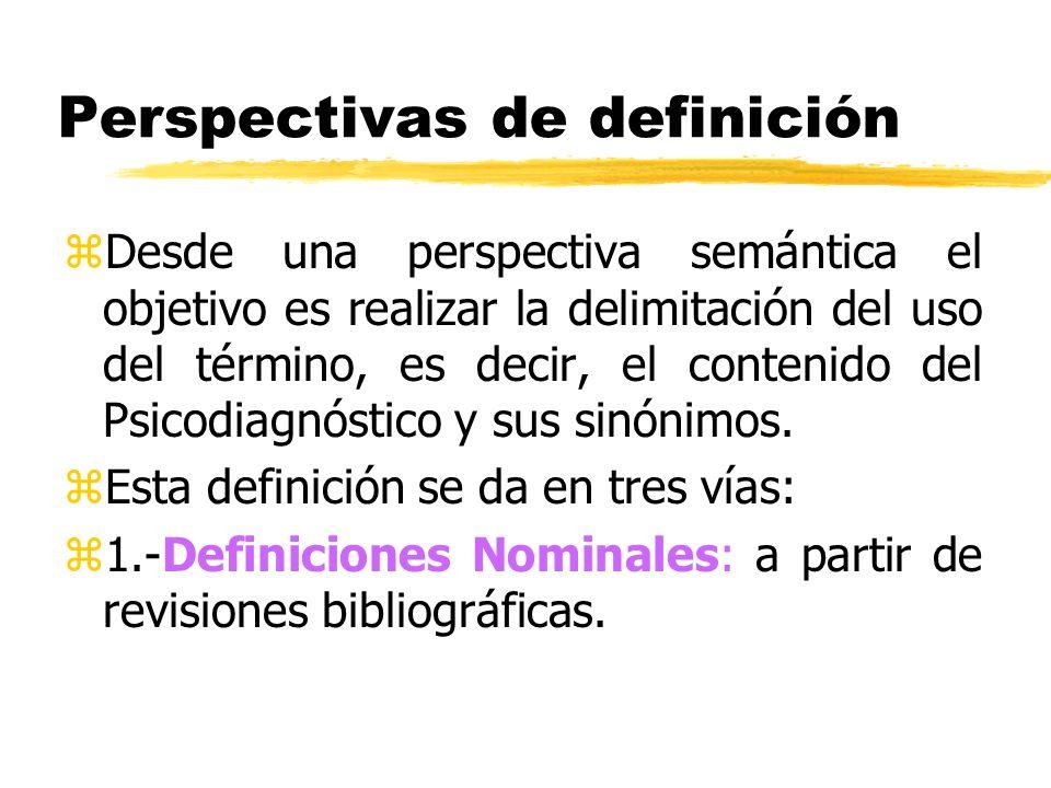 Perspectivas de definición