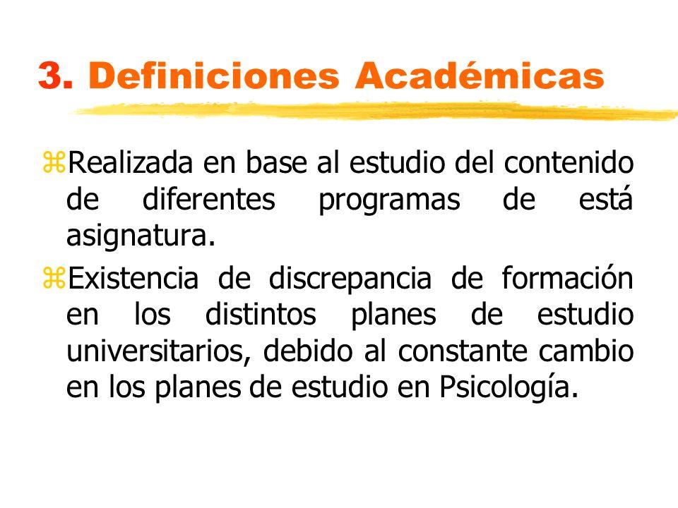 3. Definiciones Académicas