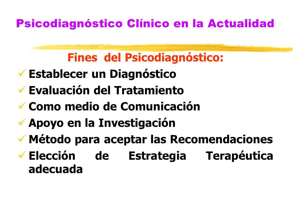 Psicodiagnóstico Clínico en la Actualidad