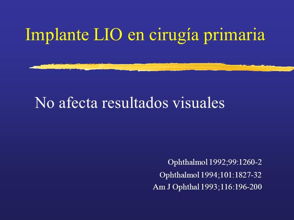 Implante LIO en cirugía primaria