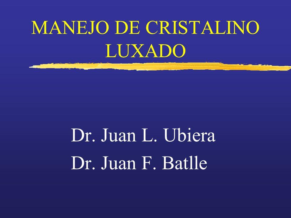 MANEJO DE CRISTALINO LUXADO