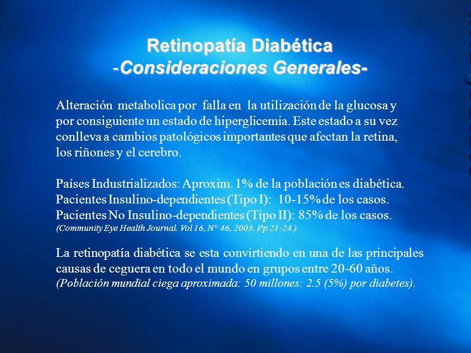 Retinopatía Diabética Consideraciones Generales-