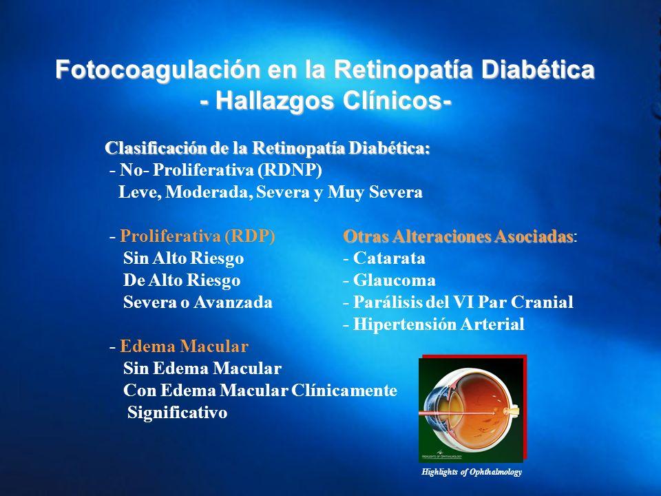 Fotocoagulación en la Retinopatía Diabética