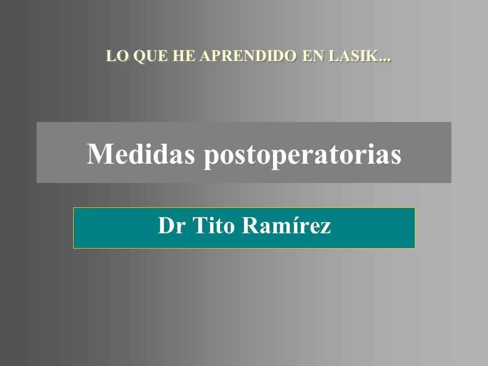 Medidas postoperatorias