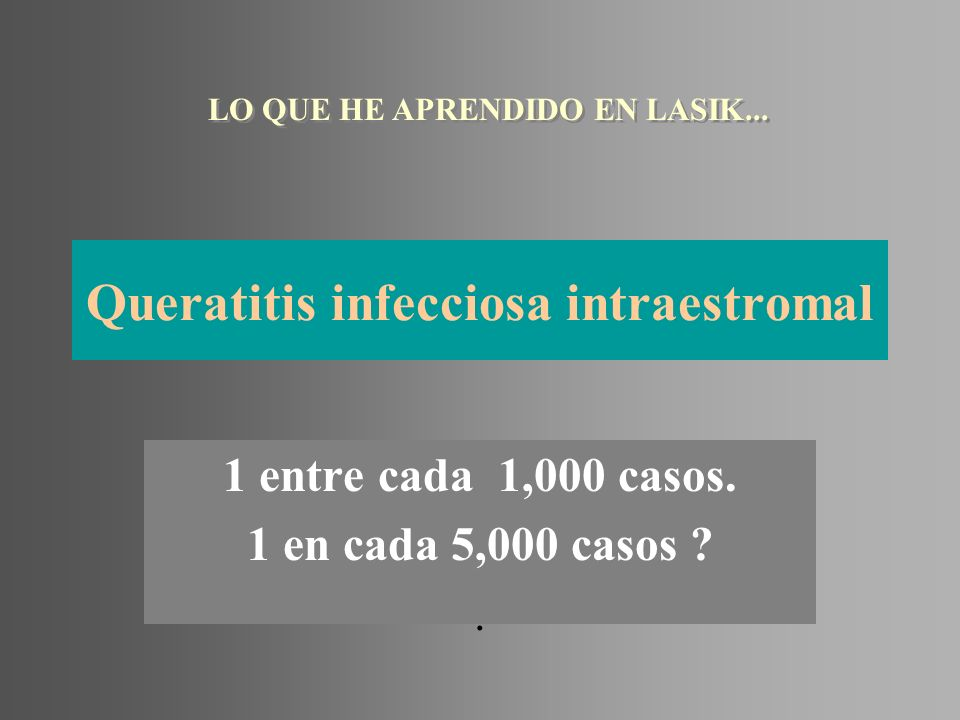 Queratitis infecciosa intraestromal