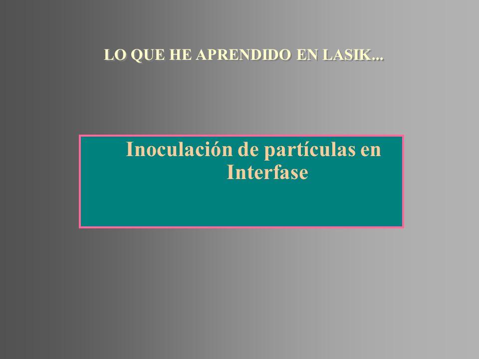 Inoculación de partículas en Interfase