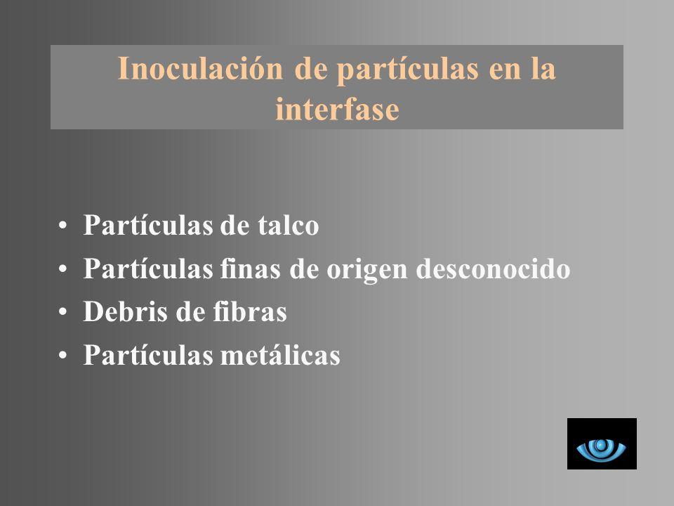Inoculación de partículas en la interfase
