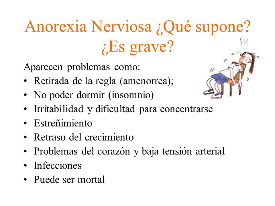 Anorexia Nerviosa ¿Qué supone ¿Es grave