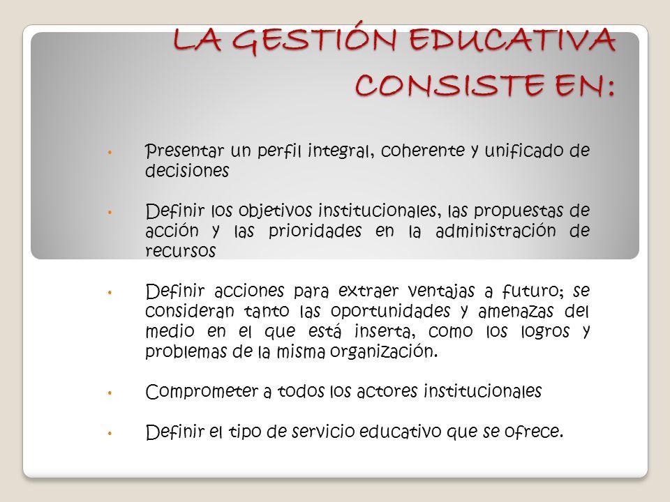 La gesti n educativa consiste en ppt descargar for La accion educativa en el exterior
