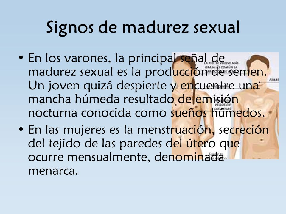 Signos de madurez sexual