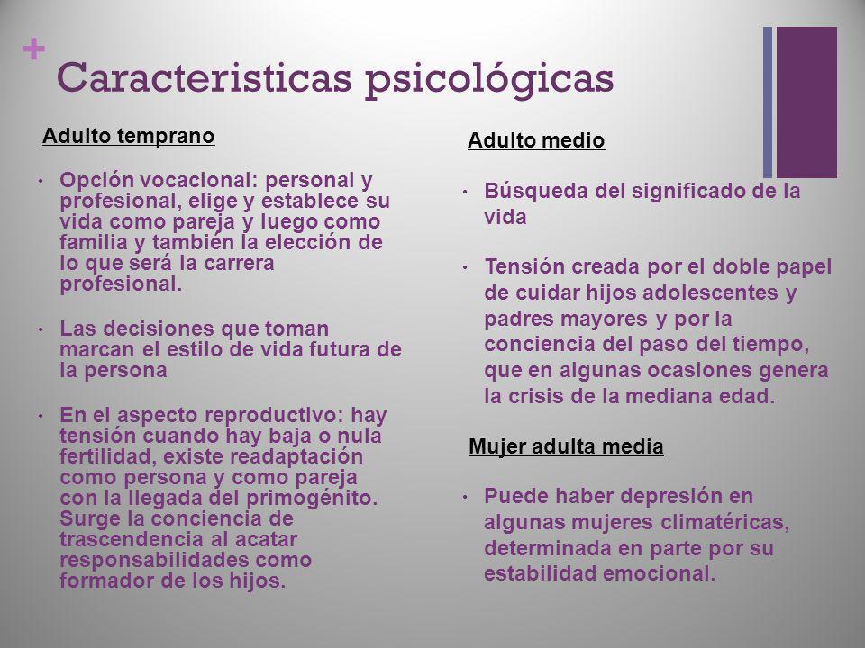 Caracteristicas psicológicas