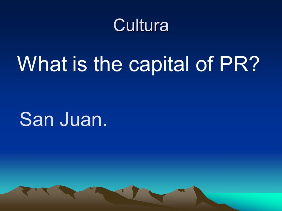 What is the capital of PR