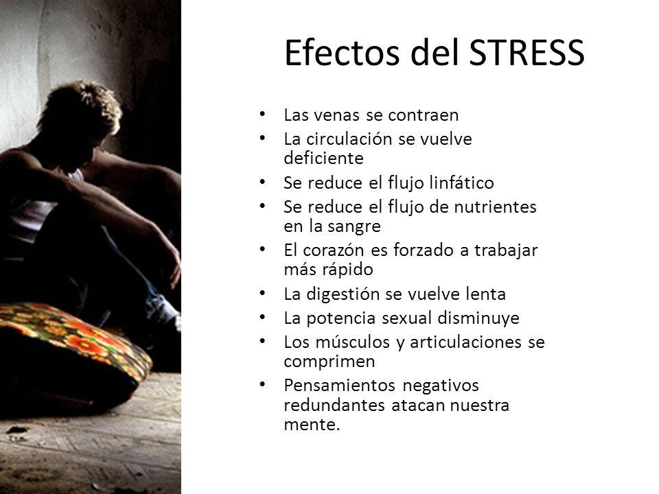 Efectos del STRESS Las venas se contraen