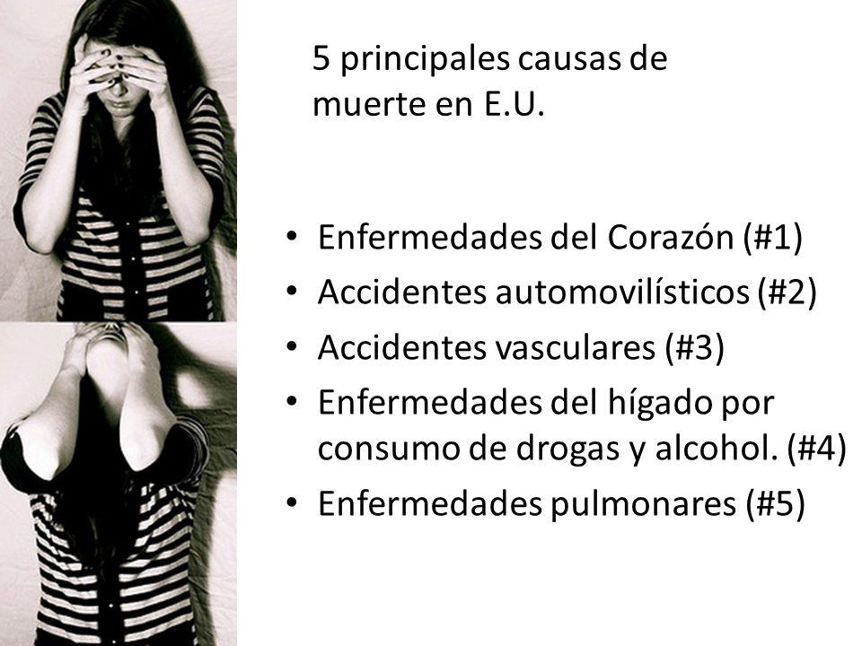 5 principales causas de muerte en E.U.
